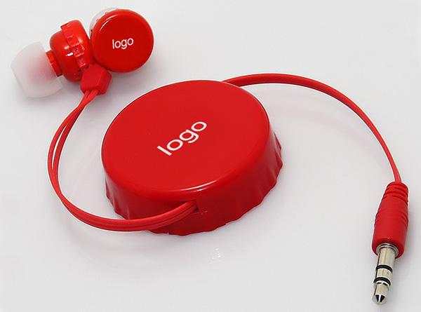 LS-ES-018 啤酒盖外形双向伸缩耳机 可乐瓶盖耳机
