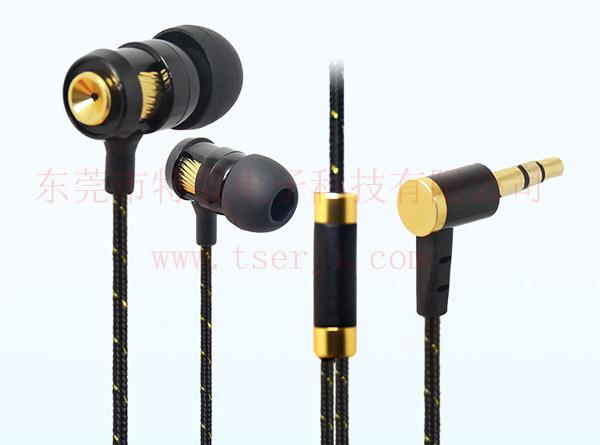 编织布线重低音金属耳机LS-EJ-074