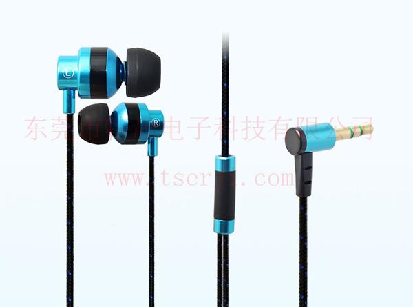 入耳式编织布线金属耳机LS-EJ-079