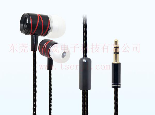 LS-EJ-085 入耳式金属耳机 TPE绞线
