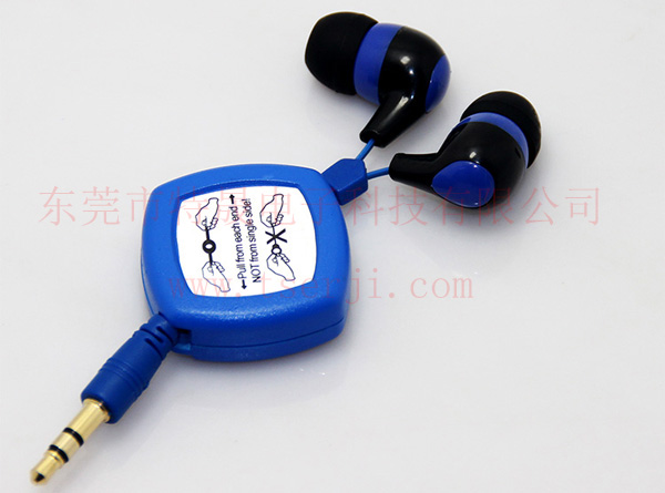LS-ES-026B 双向收缩线耳机 塑胶耳壳