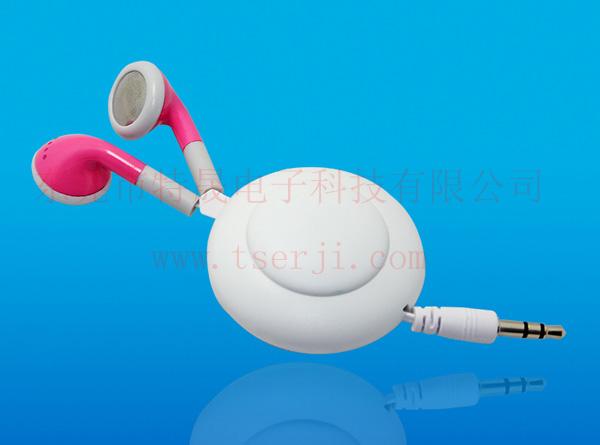 LS-ES-025D 平耳式伸缩线耳机 双向拉伸
