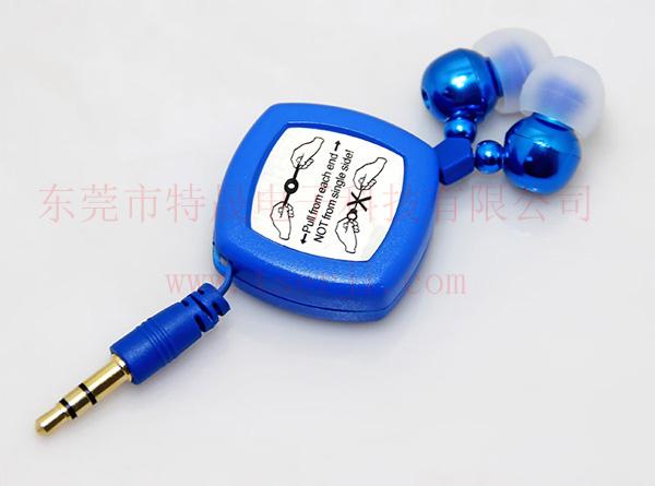 LS-ES-027 入耳式双拉伸缩线耳机 金属耳壳