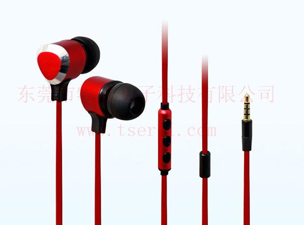 LS-EM-141 苹果安卓通用手机免提耳机 金属耳壳