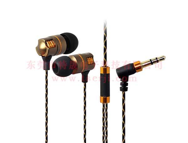 LS-EJ-148 入耳式蛇皮花线金属耳机