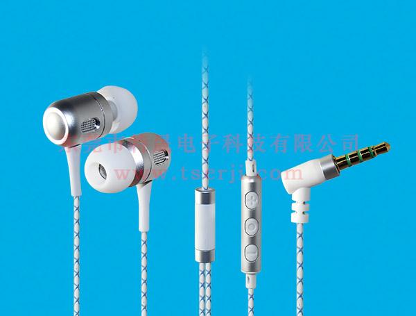LS-EM-189 入耳式手机免提耳机 TPE花线