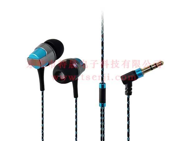 LS-EJ-158 入耳式金属耳机 TPE花纹防缠线