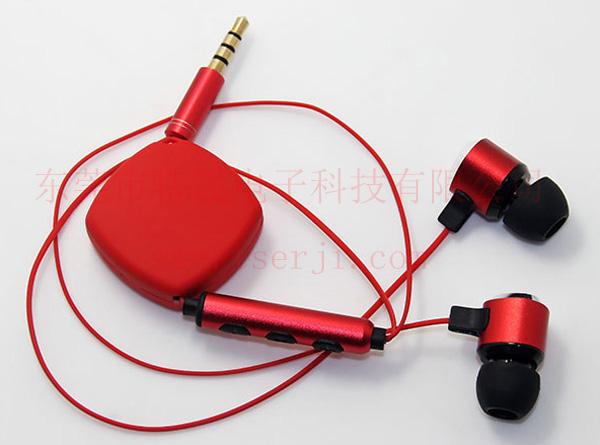 LS-ES-042伸缩手机耳机 苹果安卓兼容版
