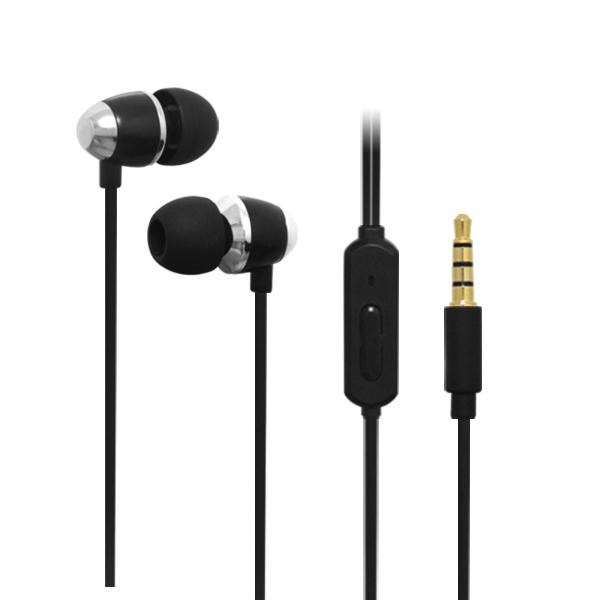 LS-EM-327  黑色入耳式重低音线控带麦手机耳机