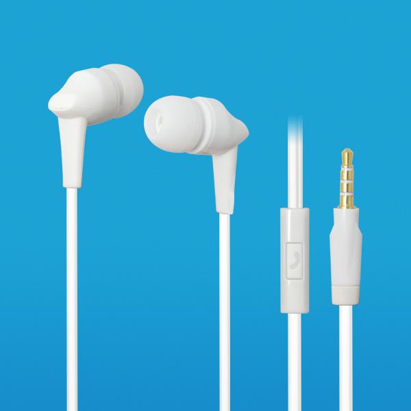 LS-EM-365  白色塑胶带麦可通话耳机