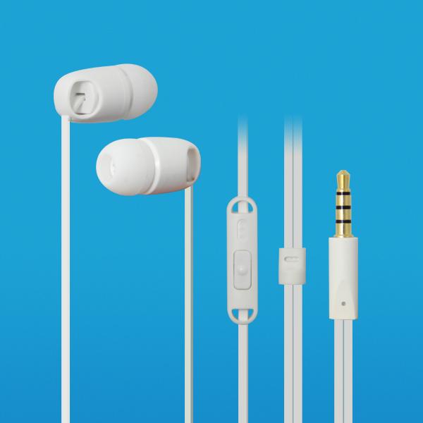 LS-EM-368 扁线塑胶入耳式免提耳机