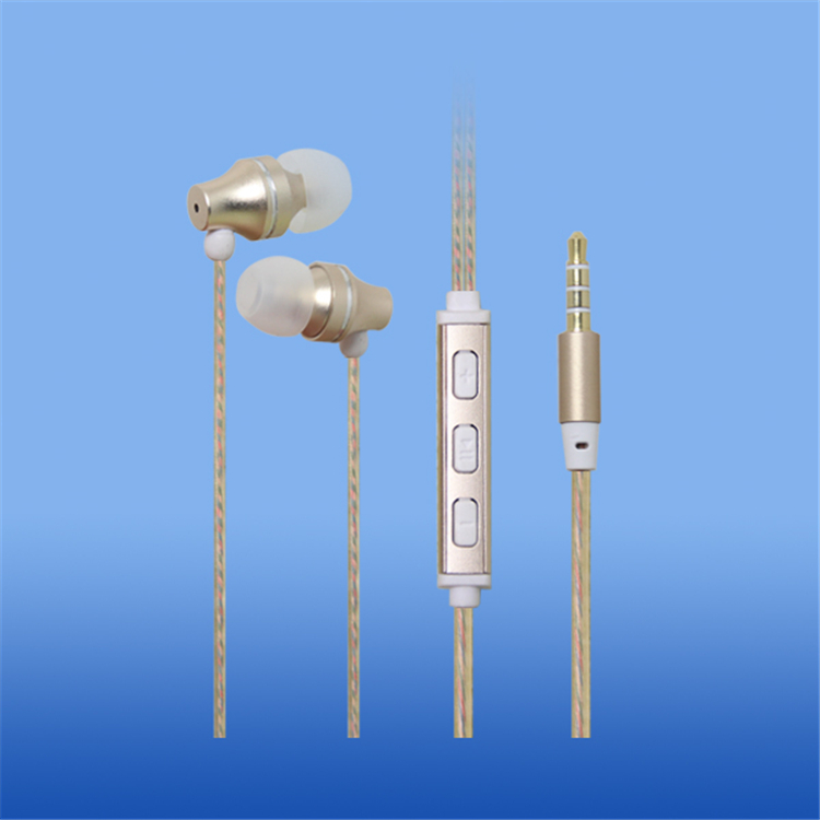 LS-EM-433 金色爆款金属免提耳机