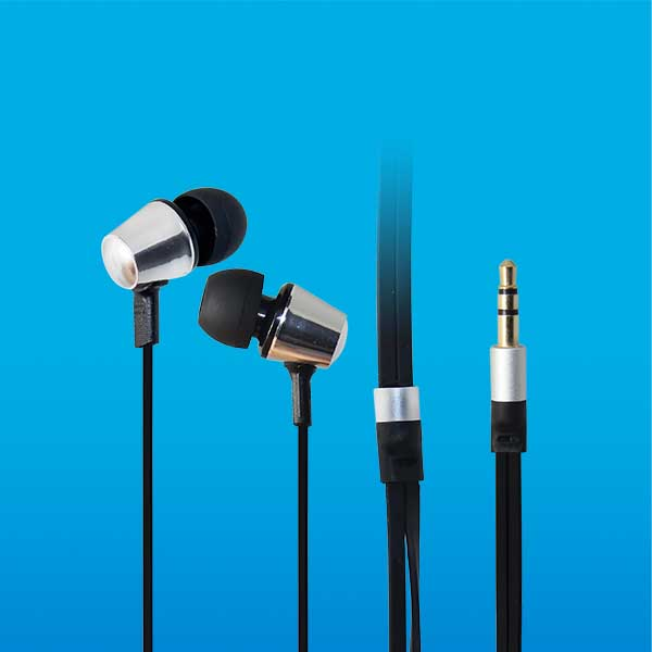 LS-EJ-163 china the latest style metal flat cable earphone