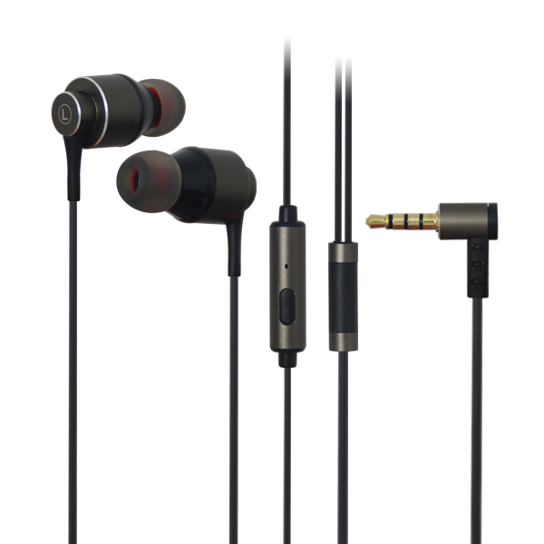 LS-EM-320 Bone conduction vibration metal earphone with mic