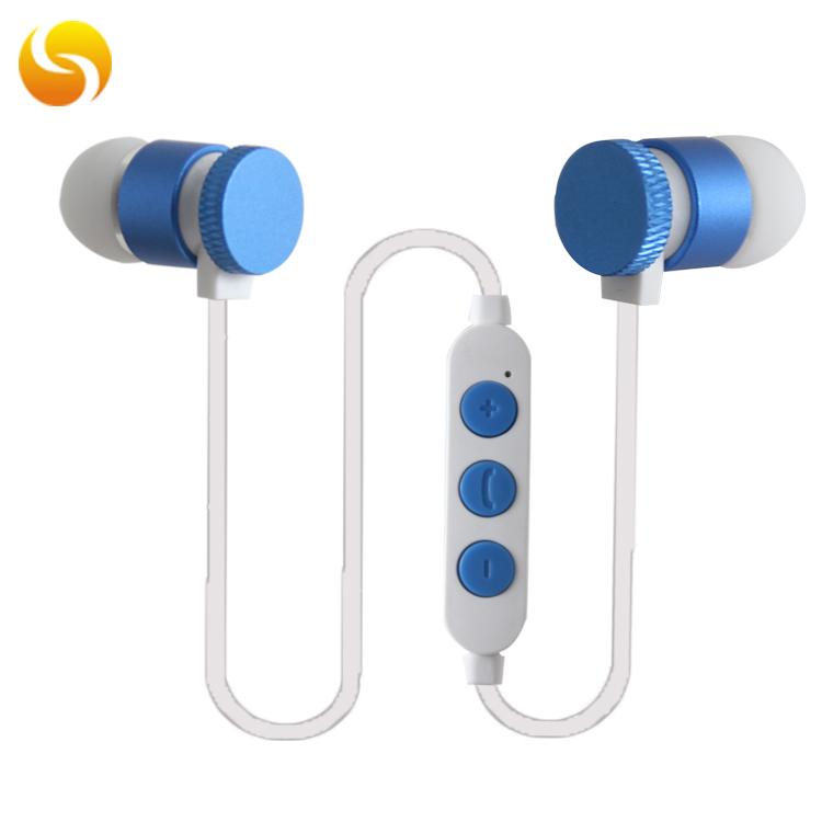 LS-LY-095,无线蓝牙耳机磁吸颈挂式入耳式运动蓝牙耳机厂家