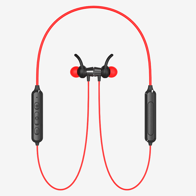 LS-LY-203,蓝牙5.0无线运动耳机立体声重低音颈挂式金属磁吸